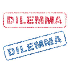 Dilemma textile stamps vector