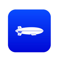 Dirigible balloon icon digital blue vector