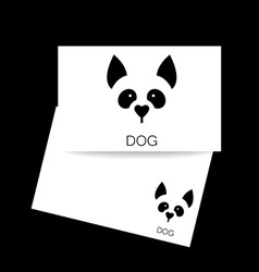 dog animal template vector image