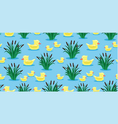 ducks and reeds vector image