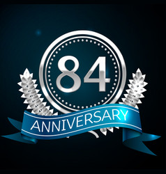 eighty four years anniversary celebration design vector image