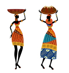 ethnic woman vector image