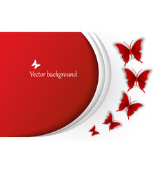 festival background with red butterflies vector image