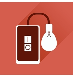 Flat icon with long shadow mobile phone and light vector