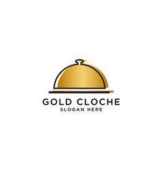 food cloche logo design template vector image