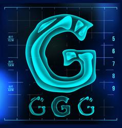 G letter capital digit roentgen x-ray vector