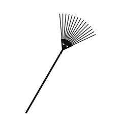 Garden rake black simple icon vector image