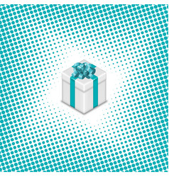 gift box on a halftone background vector image
