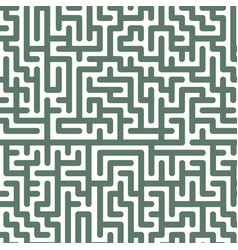 green labyrinth pattern on white background vector image