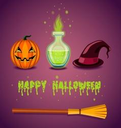 Greeting card happy halloween vector
