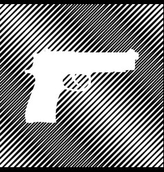 gun sign icon hole in moire vector image