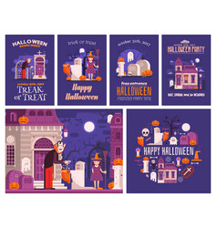 Halloween backgrounds and cards vector
