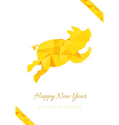 Happy new year greeting card template vector