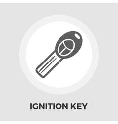 Ignition key flat icon vector image