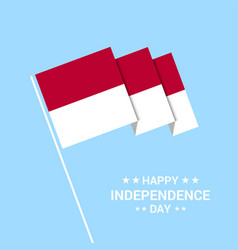 Indonesia independence day typographic design vector