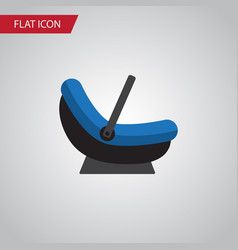 isolated cradle flat icon pram element can vector image