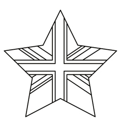 Isolated united kingdom star design vector image