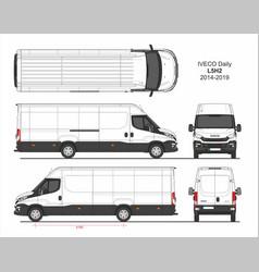 Iveco daily cargo delivery van l5h2 2014-2019 vector