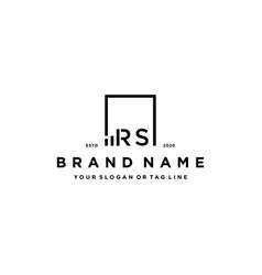 Letter rs square logo finance design vector
