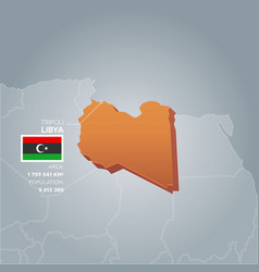 Libya information map vector