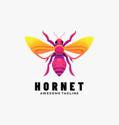 Logo hornet gradient colorful style vector