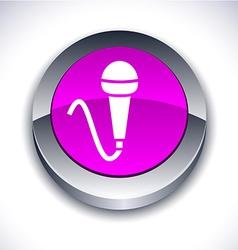 Mic 3d button vector