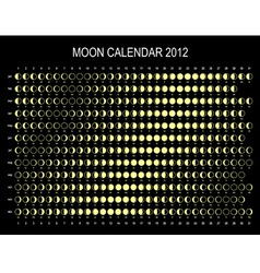 moon calendar 2012 vector image vector image