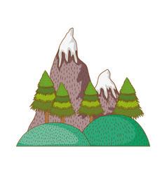 mountains nature landscape vector image