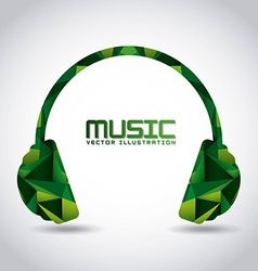 music headset vector image