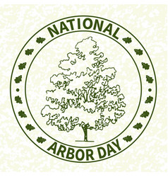 national arbor day-02 vector image