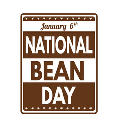 national bean day grunge rubber stamp vector image