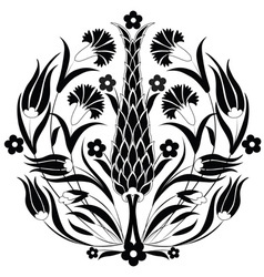Oriental ottoman design black vector
