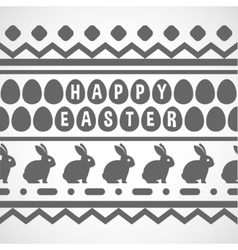 pattern with waves rabbits and eggs vector image