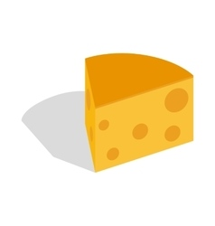 Piece of cheese icon isometric 3d style vector image