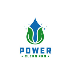 Power cleaning water logo vector