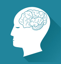 Profile head brain health image vector
