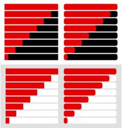 progress load bar templates set at 8 stages steps vector image