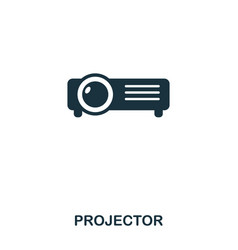 projector icon line style icon design ui vector image