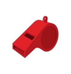 Red whistle cartoon icon vector