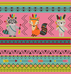 Seamless pattern with tribal design vector