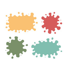 set colored blots on white background vector image