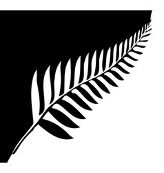 silver fern of new zealand vector image