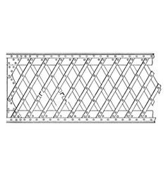 Simple lattice girder vintage vector