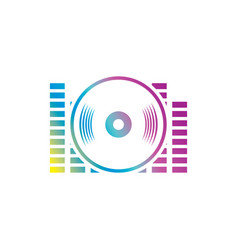 Sound dj equalizer logo vector