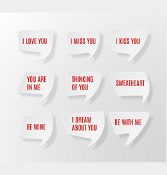 speech bubbles with text vector image
