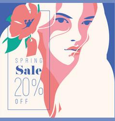 Spring sale banner sale poster sale flyer 20 vector