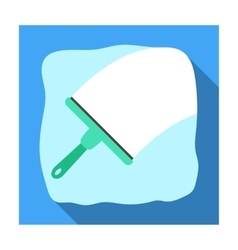 Squeegee icon in flat style isolated on white vector