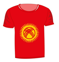 t-shirt flag kirgiziya vector image