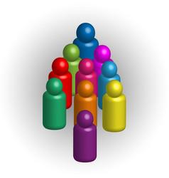 teamwork people together community logo vector image