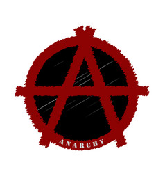 the symbolism of the anarchists in the vector image